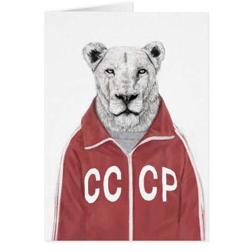 León soviético tarjeta