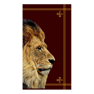 León Plantillas De Tarjeta De Negocio