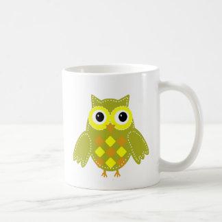 Leon the Lime Green Adorable Owl Coffee Mug