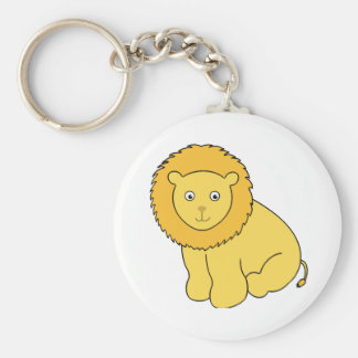 Leon the Lion Cute Cartoon Cat Keychain