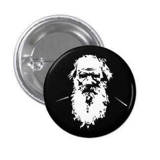 León Tolstói - retrato Pin Redondo De 1 Pulgada