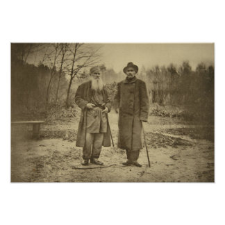 León Tolstói y la máxima Gorki del autor Posters