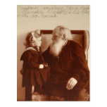 León Tolstoy con su nieta, Tatiana Tarjetas Postales