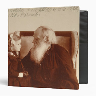 Leon Tolstoy with his granddaughter, Tatiana 3 Ring Binder
