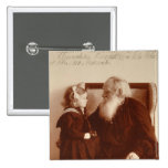 Leon Tolstoy with his granddaughter, Tatiana 2 Inch Square Button