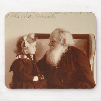 Leon Tolstoy with his granddaughter, Tatiana Mouse Pad
