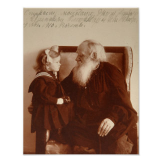 Leon Tolstoy with his granddaughter, Tatiana Poster