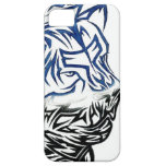León tribal iPhone 5 Case-Mate protectores