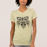 León tribal negro 2 camiseta