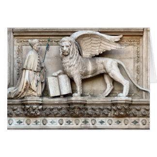 León veneciano tarjeta de felicitación