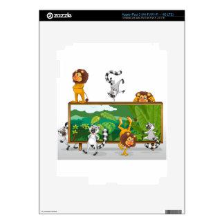 león y ardillas con el tablero iPad 3 pegatinas skins