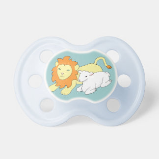 León y cordero chupetes para bebes