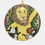 León y corderos, ornamento del navidad ornato