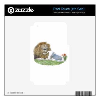 León y el arte del cristiano del cordero calcomanía para iPod touch 4G