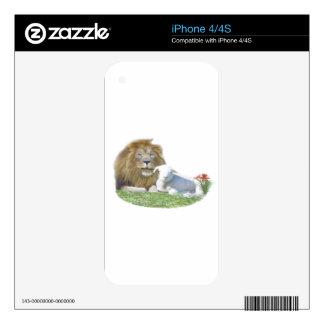 León y el arte del cristiano del cordero skins para eliPhone 4S