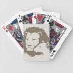 León y el cordero baraja cartas de poker