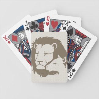 León y el cordero baraja de cartas