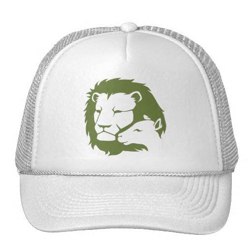 León y el cordero gorras