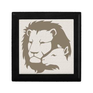 León y el cordero caja de recuerdo