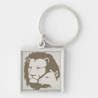 León y el cordero llaveros personalizados