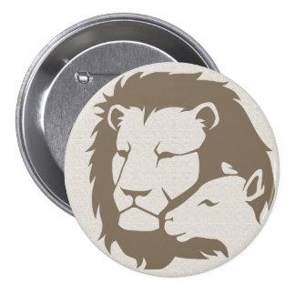 León y el cordero pin