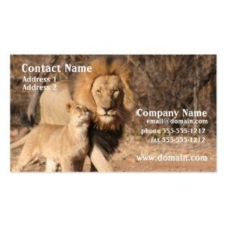 León y tarjeta de visita de Cub
