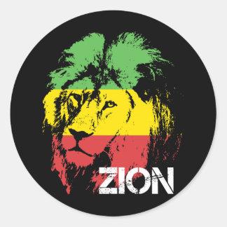 León Zion Pegatinas Redondas