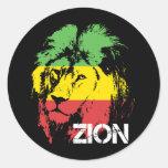 León Zion Pegatina Redonda