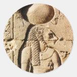Leona de Sekhmet jeroglífica Etiquetas Redondas