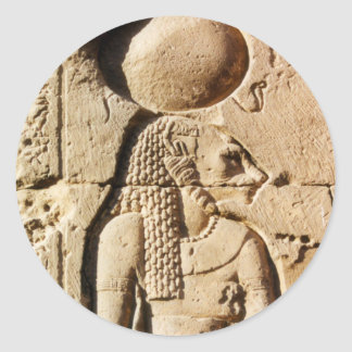 Leona de Sekhmet jeroglífica Pegatina Redonda