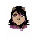 Leona el chica del leopardo ama rosa plantilla de tarjeta personal