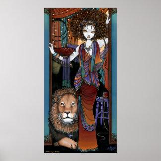 Leona Levon Bohemian Circus Lion Tamer Fae Poster