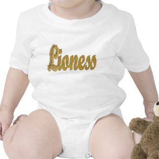 Leona - texto peludo trajes de bebé