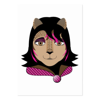 Leona The Leopard Girl Loves Hot Pink Business Card