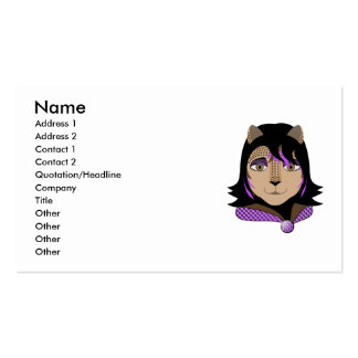 Leona The Leopard Girl Loves Purple Business Card Template