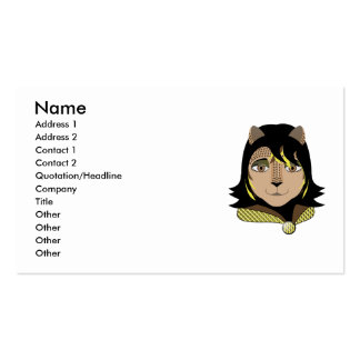 Leona The Leopard Girl Loves Yellow Business Cards