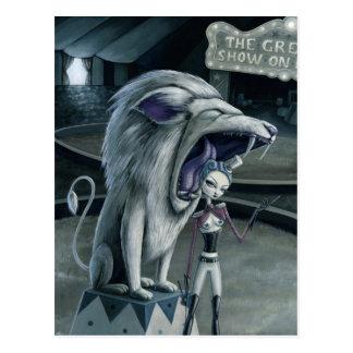 Leona the Lion Tamer Postcard