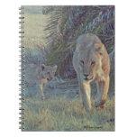 Leona y diario de Cub Libro De Apuntes Con Espiral