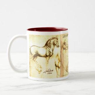 Leonado da Vinci Drawings 3 Two-Tone Coffee Mug