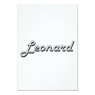 Leonard Classic Retro Name Design 3.5x5 Paper Invitation Card