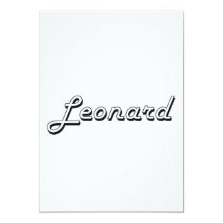 Leonard Classic Retro Name Design 5x7 Paper Invitation Card