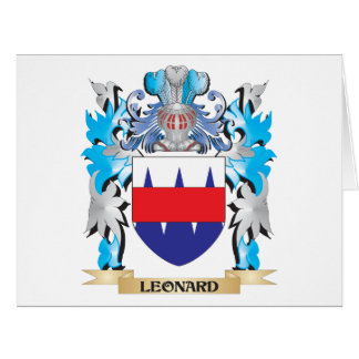 Leonard Coat of Arms - Family Crest Greeting Cards