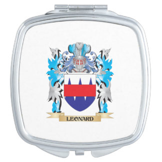 Leonard Coat of Arms - Family Crest Mirrors For Makeup