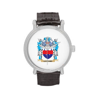 Leonard Coat of Arms - Family Crest Wrist Watches