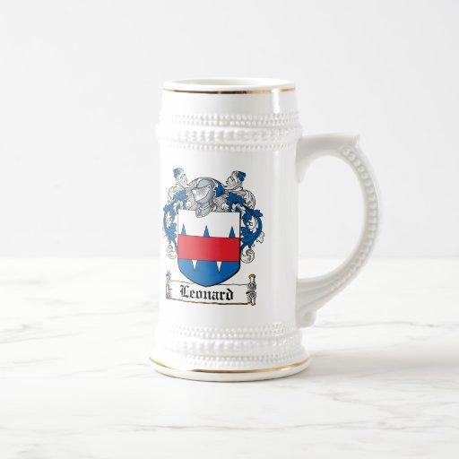 Leonard Family Crest 18 Oz Beer Stein