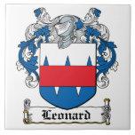 Leonard Family Crest Ceramic Tiles