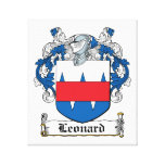 Leonard Family Crest Gallery Wrapped Canvas