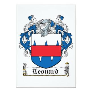 Leonard Family Crest 5x7 Paper Invitation Card