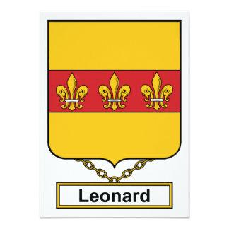 Leonard Family Crest 4.5x6.25 Paper Invitation Card