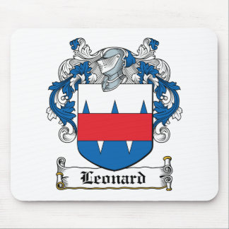 Leonard Family Crest Mouse Pad